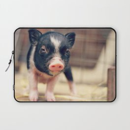 Piebald Pig puppy for Pig Lovers                                        Laptop Sleeve