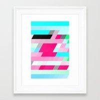 flag Framed Art Prints featuring Flag by allan redd