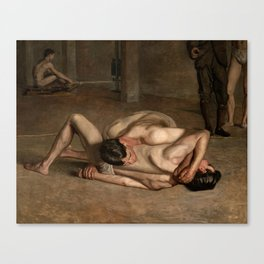 Wrestlers by Thomas Eakins, 1899 Canvas Print