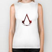 assassins creed Biker Tanks featuring CREED ASSASSINS LOGO by Bilqis