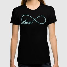 Forever Affectionate Womens Fitted Tee Black MEDIUM