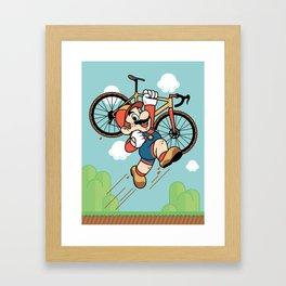 Super Cyclocross Framed Art Print