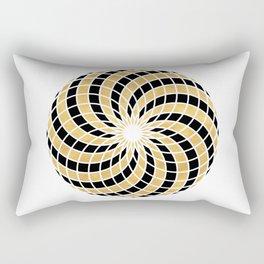BLACK AND GOLD TORUS circular sacred geometry Rectangular Pillow