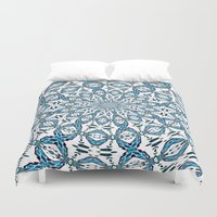 snowflake Duvet Covers featuring Snowflake by Stay Inspired