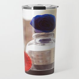 Glass Flowers Travel Mug