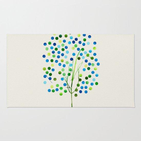 Tree of Life_Aqua by Jacqueline and Garima Rug
