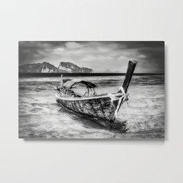 Longboat Thailand Metal Print