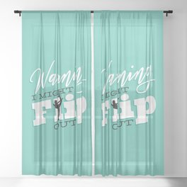 Gymnastic Flip Sheer Curtain