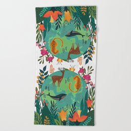 Once Destroyed Nature's Beauty Cannot Be Repurchased At Any Price Beach Towel