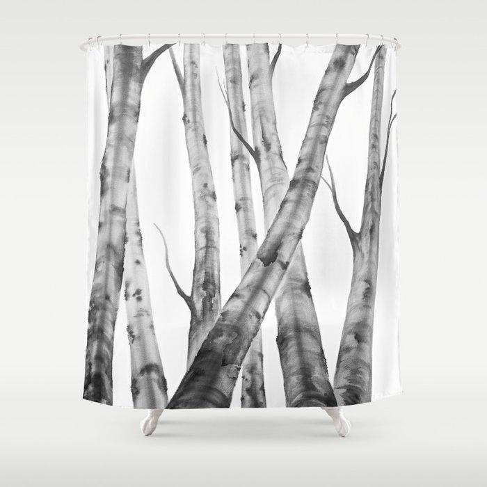 Birch Tree Watercolour Painting