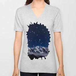 At the roof of the world Unisex V-Neck