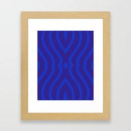 Bluesy Twist Framed Art Print
