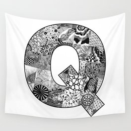 Cutout Letter Q Wall Tapestry