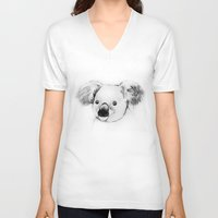 koala V-neck T-shirts featuring koala by Кaterina Кalinich
