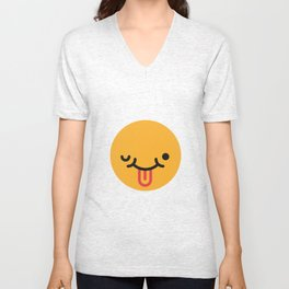 Emojis: Crazy face Unisex V-Neck