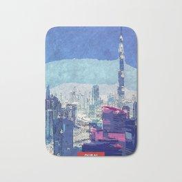 Dubai city skyline Bath Mat