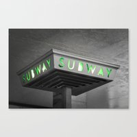 subway Canvas Prints featuring SUBWAY by Cameron Booth