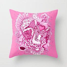 Pink Attitude Throw Pillow