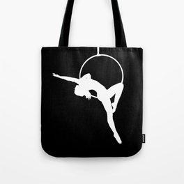 Lyra Aerialist Silhouette Tote Bag