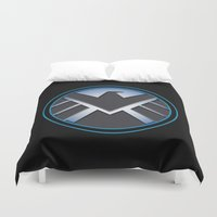 shield Duvet Covers featuring Shield by livinginamovie