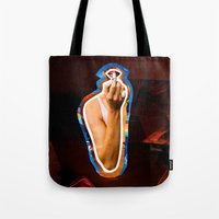 lipstick Tote Bags featuring Lipstick by rodalume