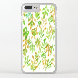 180726 Abstract Leaves Botanical 5 Botanical Illustrations Clear iPhone Case