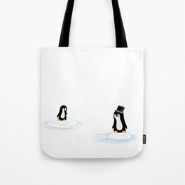 Penguins on Ice Tote Bag