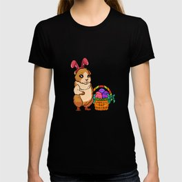 Cute Easter Guiena Pig on Egg Hunt Gift For Animal Lovers T-shirt