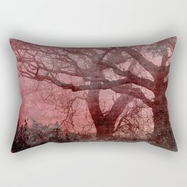 Textured Trees Rectangular Pillow