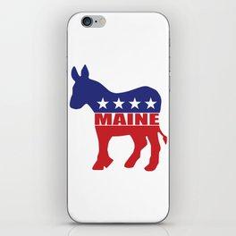 Maine Democrat Donkey iPhone Skin