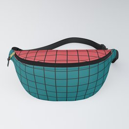 Red turquoise  plaid Fanny Pack