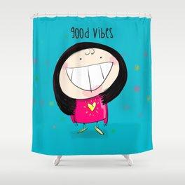 Good Vibes #happywoman Shower Curtain