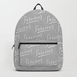 Survivor Modern Calligraphy Hand Lettering Design Backpack