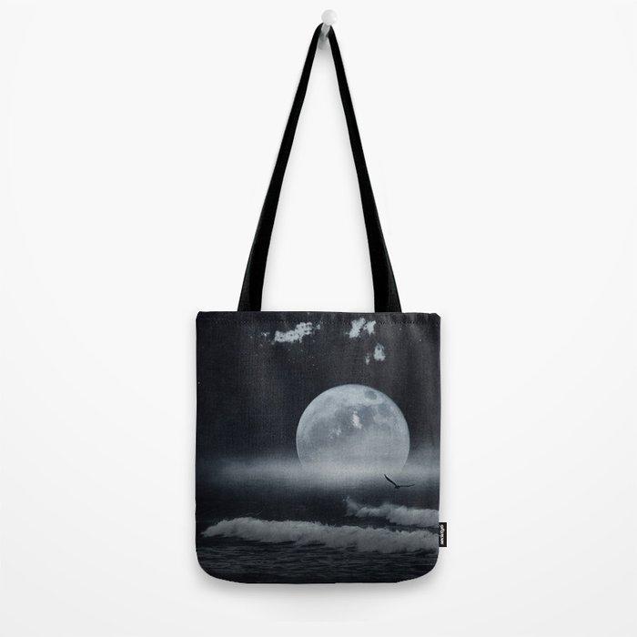 moon-lit ocean Tote Bag