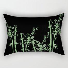 Bamboo design green - black Rectangular Pillow