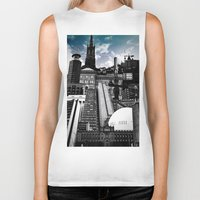 stockholm Biker Tanks featuring Urban Stockholm by Nicklas Gustafsson