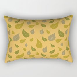 Falling Leaves on Yellow Pattern Rectangular Pillow