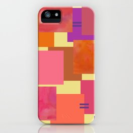 Power of Ten Linked Squares iPhone Case