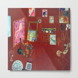 Henri Matisse The Red Studio Metal Print