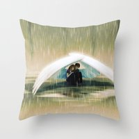wings Throw Pillows featuring Wings by Emmy Cicierega