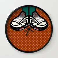 air jordan Wall Clocks featuring AIR JORDAN 5 by originalitypieces