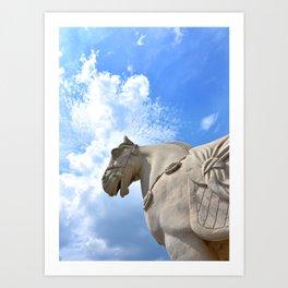 Ancient Warhorse Art Print