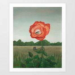 Rose and Buckeye Art Print