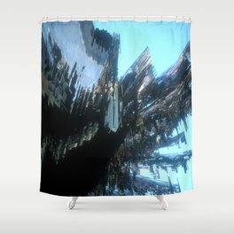 Nothing Grows but Factories no. 1 Shower Curtain