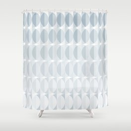 Leaves in the mist - a pattern in ice gray Shower Curtain