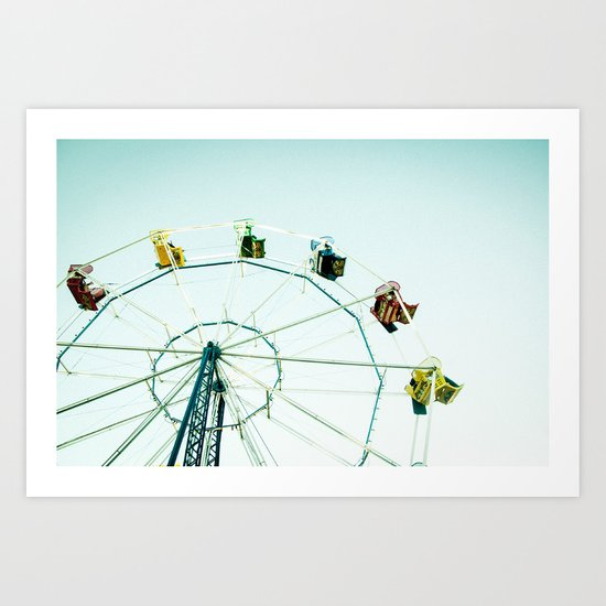 Green Bay Ferris Wheel Art Print