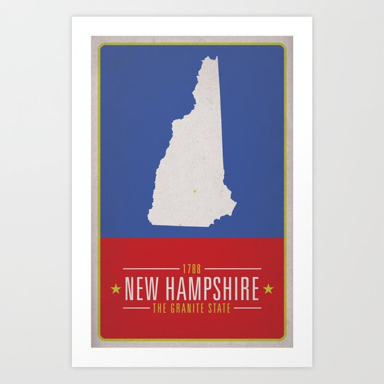 NEW HAMPSHIRE Art Print