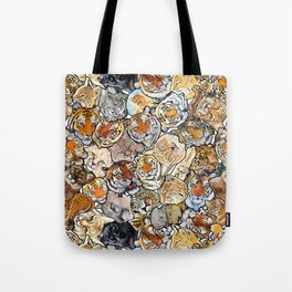 Big Cat Collage Tote Bag