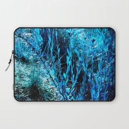alien landscape indigo blue green forest surreallist Laptop Sleeve