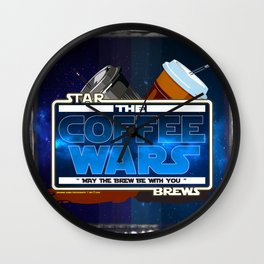 Star Brews - The Coffee Wars - Jeronimo Rubio Photography and Art 2016 Wall Clock
